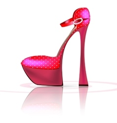 pink semi-shoe vector image