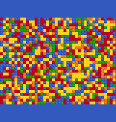 plastic constructor seamless pattern color vector image