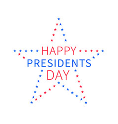 presidents day banner in form of star vector image