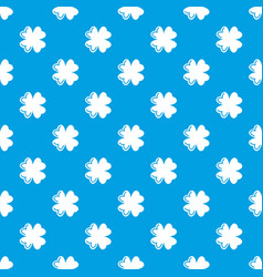 quatrefoil leaf pattern seamless blue vector image