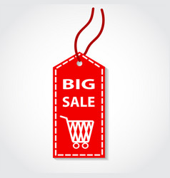 red tag big sale shopping online design vector image