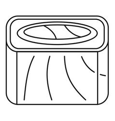Salmon rainbow sushi roll icon outline style vector