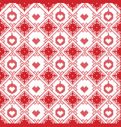 Scandinavian seamless cross stitch pattern vector