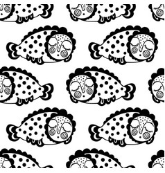seamless pattern with dream fish vector image