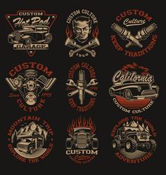 Set designs in vintage style vector