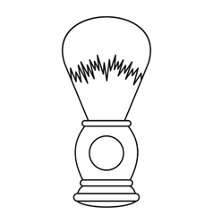 Shaving brush icon outline style vector