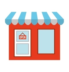 shop building classic isolated icon vector image