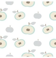 Simple apple fruit repeating pattern vector image