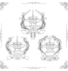 Smithy vintage logos vector