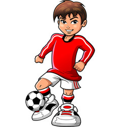 Soccer football player teen boy sports clipart vector