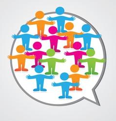 Social media people inner circle Speech Bubble vector image