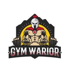 Spartan gymnastic warrior design vector
