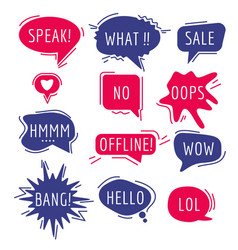 speech bubbles text thinking words and phrase vector image