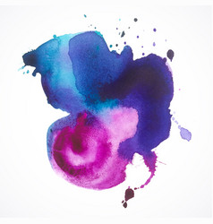 stamp-watercolor-violet vector image