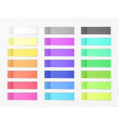 Sticky paper notes with shadow effect blank color vector