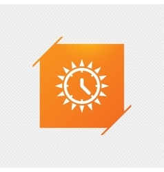 Summer time icon Sunny day Daylight saving vector