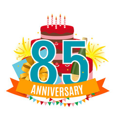 template 85 years anniversary congratulations vector image