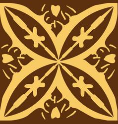 the moroccan mural decorative design art symbol vector image