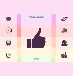 thumb up gesture - icon graphic elements for vector image