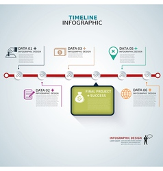 timeline template infographic vector image