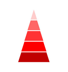 triangular red indicator vector image
