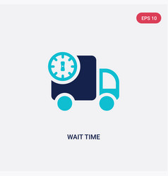 Two color wait time icon from packing and vector