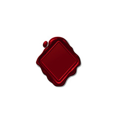 wax seal stamp shape vector image