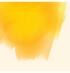 Yellow watercolor paint brush stroke background vector