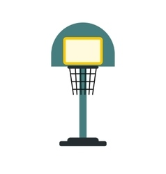 Basketball goal on a playground icon vector image vector image