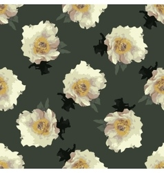 Bouquet of Peony flowers with leaves vector image vector image
