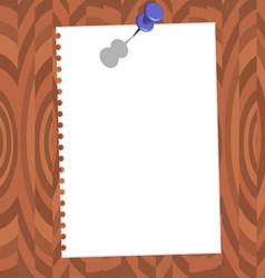 paper with pin vector image vector image