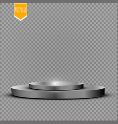 realistic round white display podium isolated on vector image