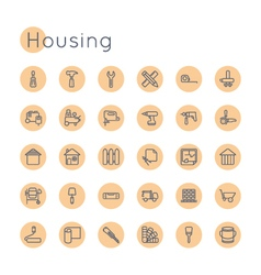 Round Housing Icons vector image vector image