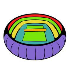 Tennis stadium icon icon cartoon vector