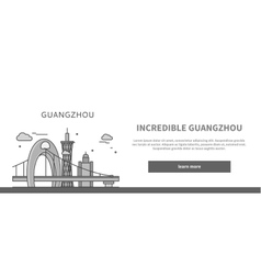 Web Page Chinese City of Incredible Guangzhou vector image vector image