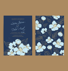 wedding invitation floral background vector image vector image
