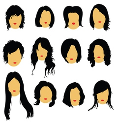 hairstyles beauty color vector image vector image
