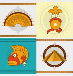 maya icon set design vector image vector image