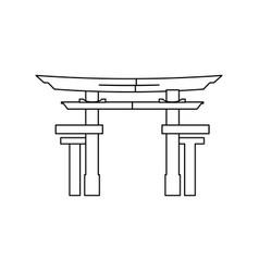 portal japanese culture icon vector image