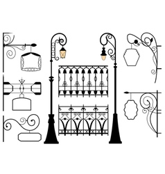 set of forged elements vector image