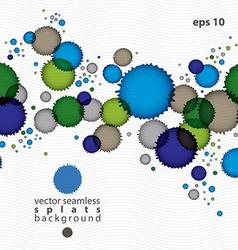 Colorful watercolor graffiti splash overlay vector