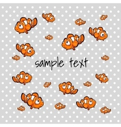 Orange small fish with space for text vector image