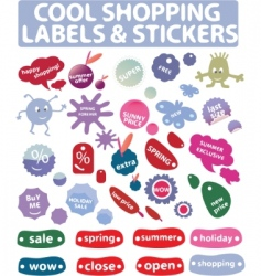 shopping labels vector image