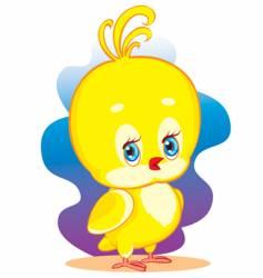 yellow chicken vector image vector image