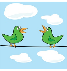 birds chirping vector image vector image