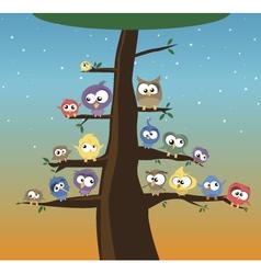 birds on a tree vector image vector image