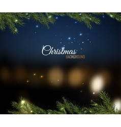 Christmas tree branches 02 A vector image vector image