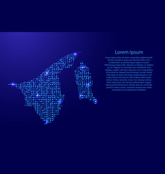 map brunei from printed board chip and radio vector image vector image