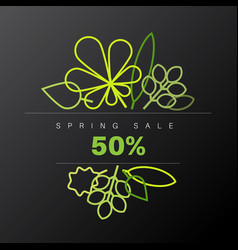 spring abstract floral background sale label vector image vector image