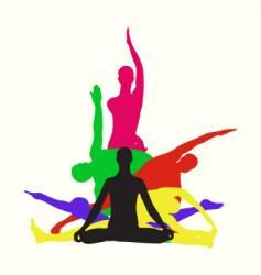 Yoga center identity vector image